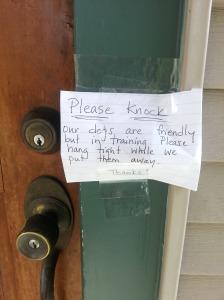 please knock
